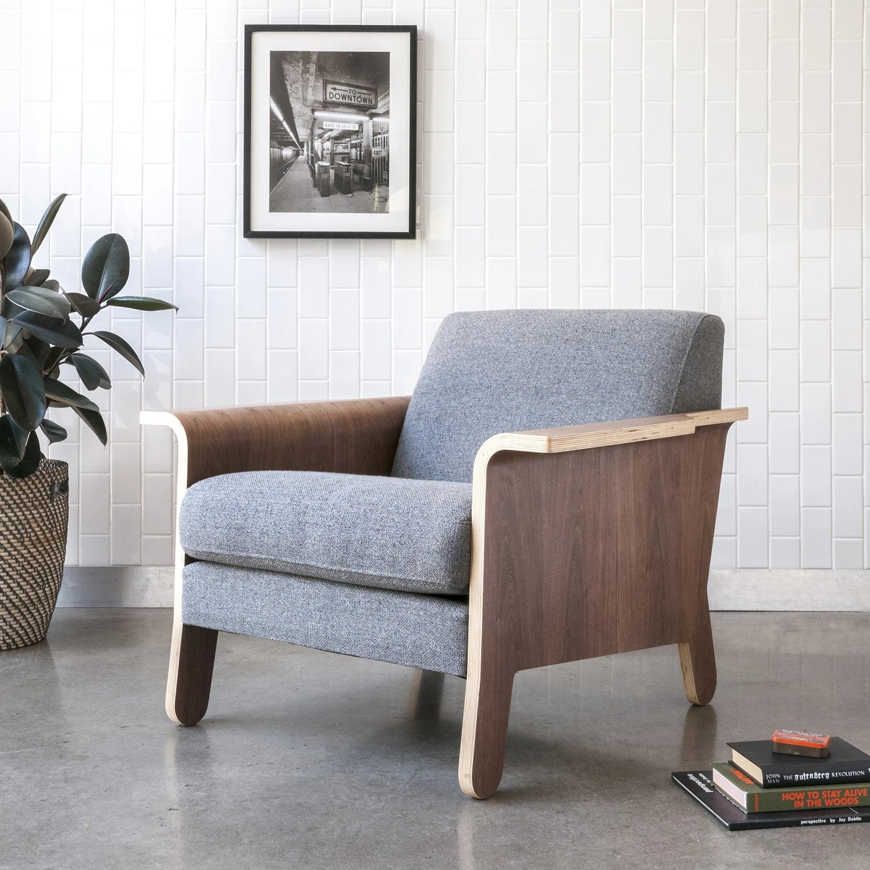 Gus* Modern Lodge Chair - Rug & Weave