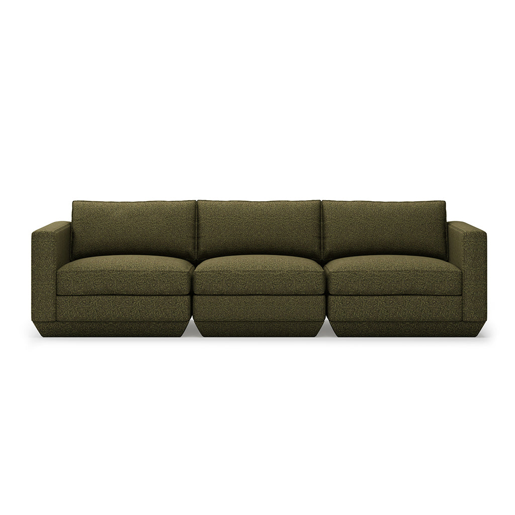 Gus* Modern Podium 3 Piece Sofa