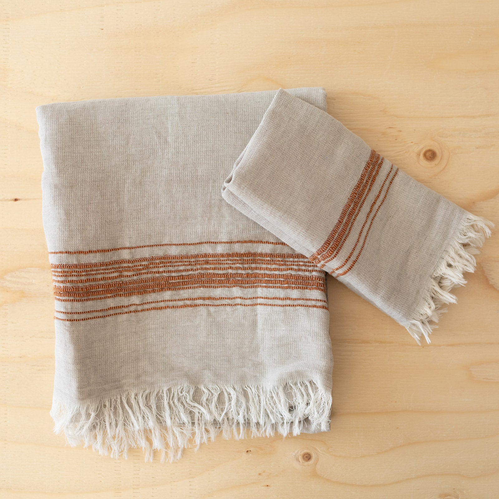 Tobacco Linen & Cotton Towels