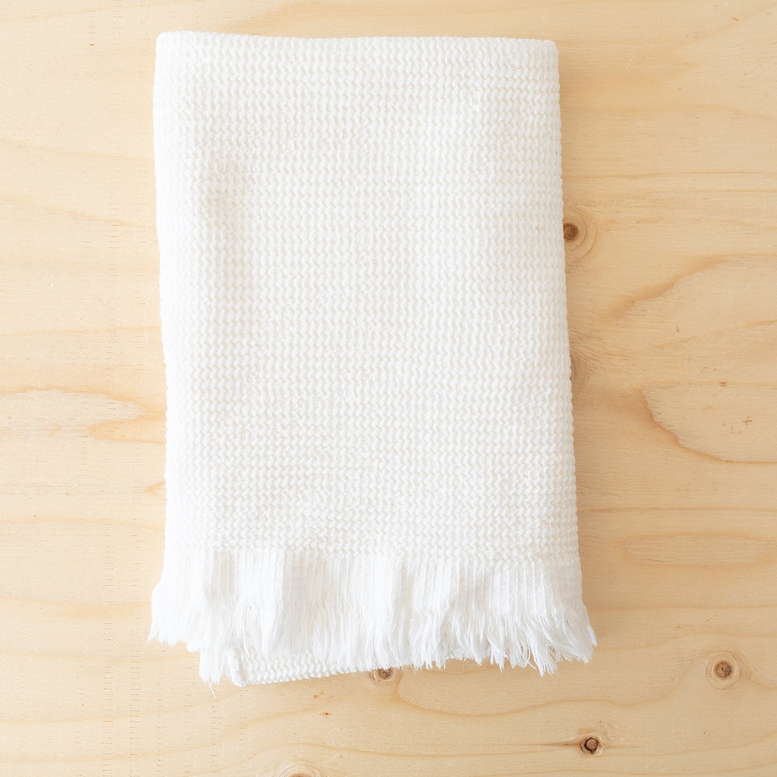 White Cotton & Bamboo Towels