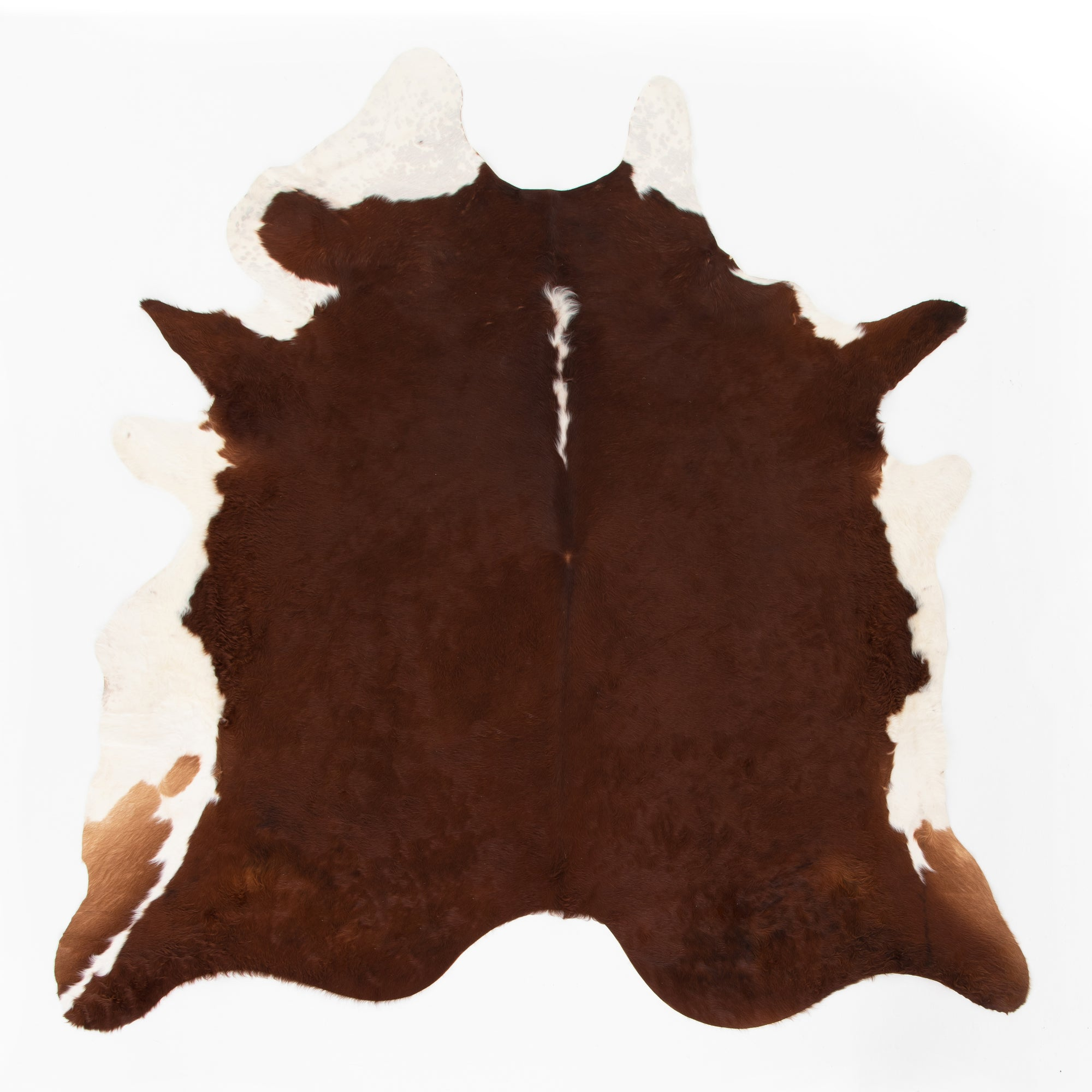 Cardin Cowhide Rug, Brown And White