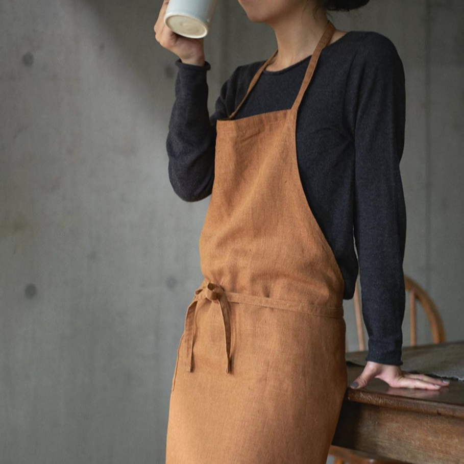Ocre Linen Daily Apron - Rug & Weave