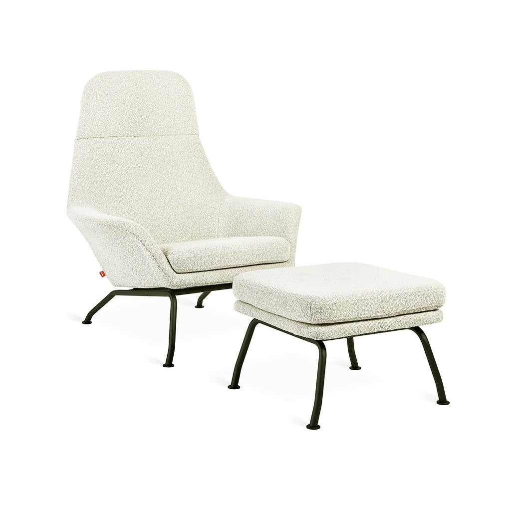 Gus* Modern Tallinn Chair and Ottoman - Rug & Weave