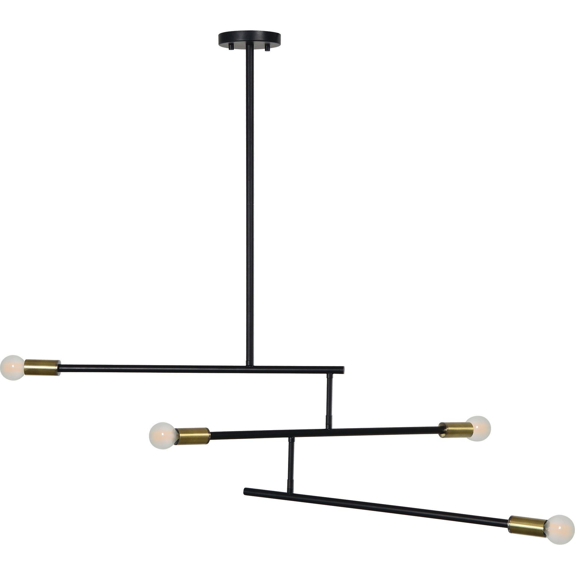 Terry Black Steel & Brass Pendant Light
