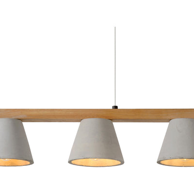 Blaine Wood & Concrete Pendant Light - Rug & Weave