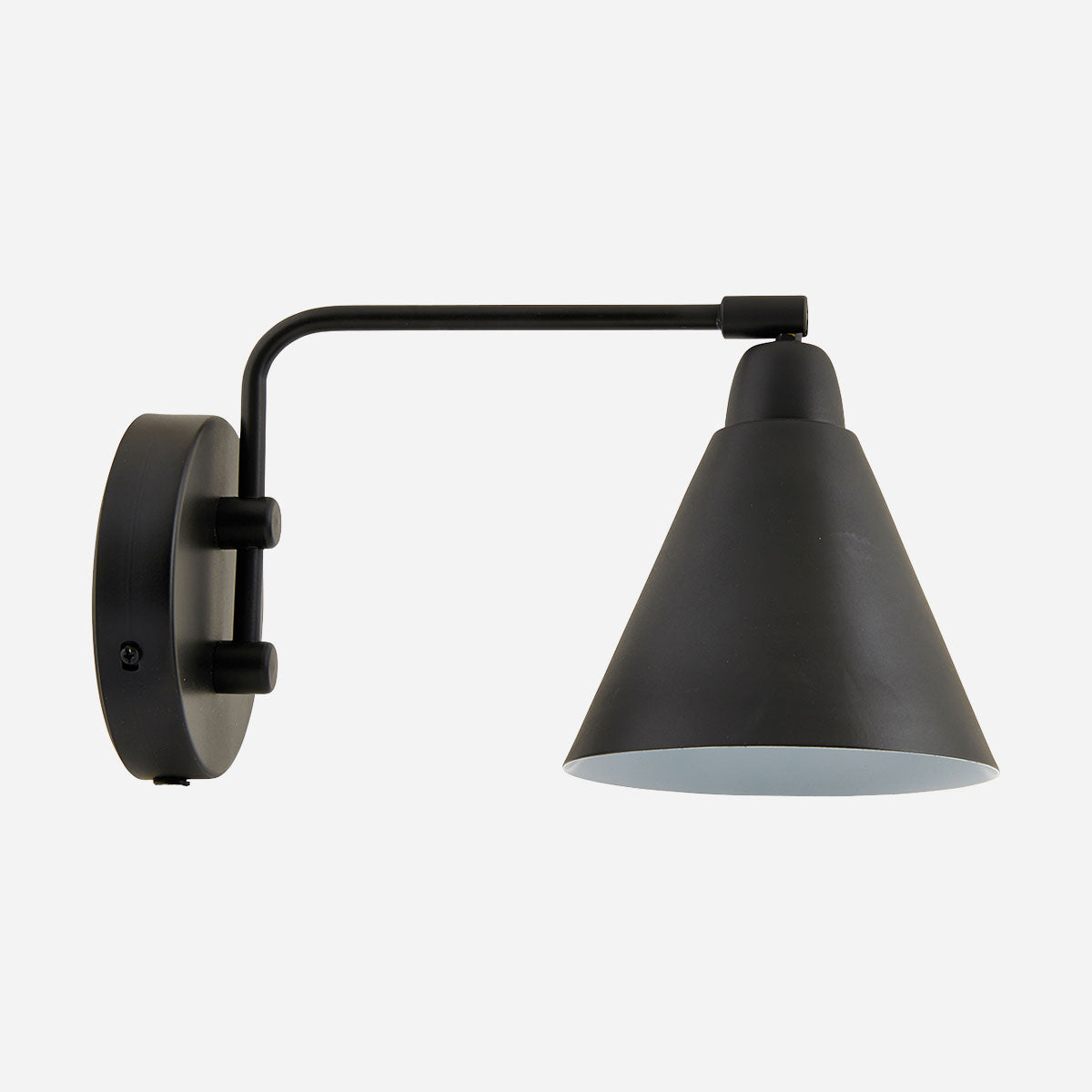 "Small ""Game"" Black Wall Sconce"