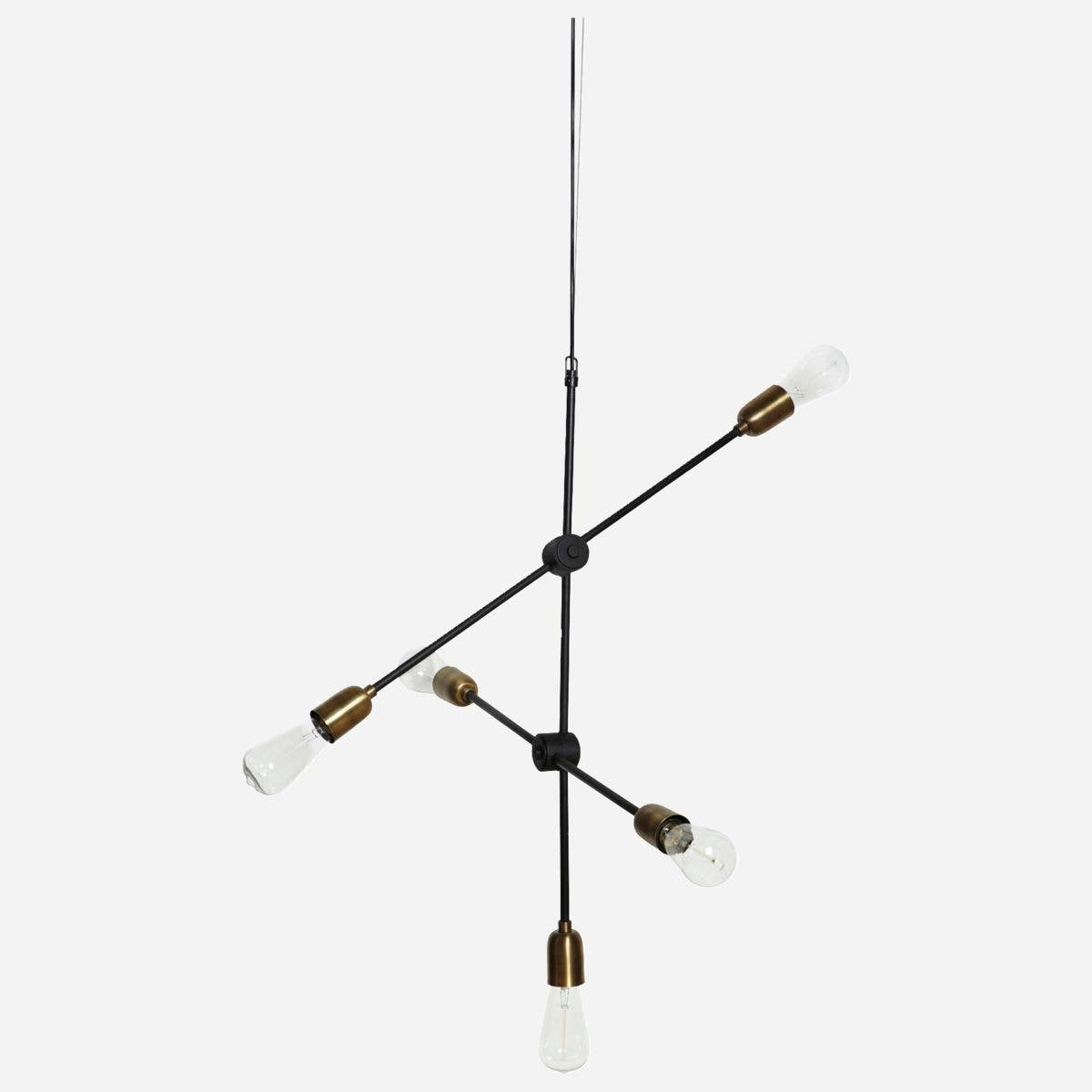 """Molecular"" Black Brass Lamp"