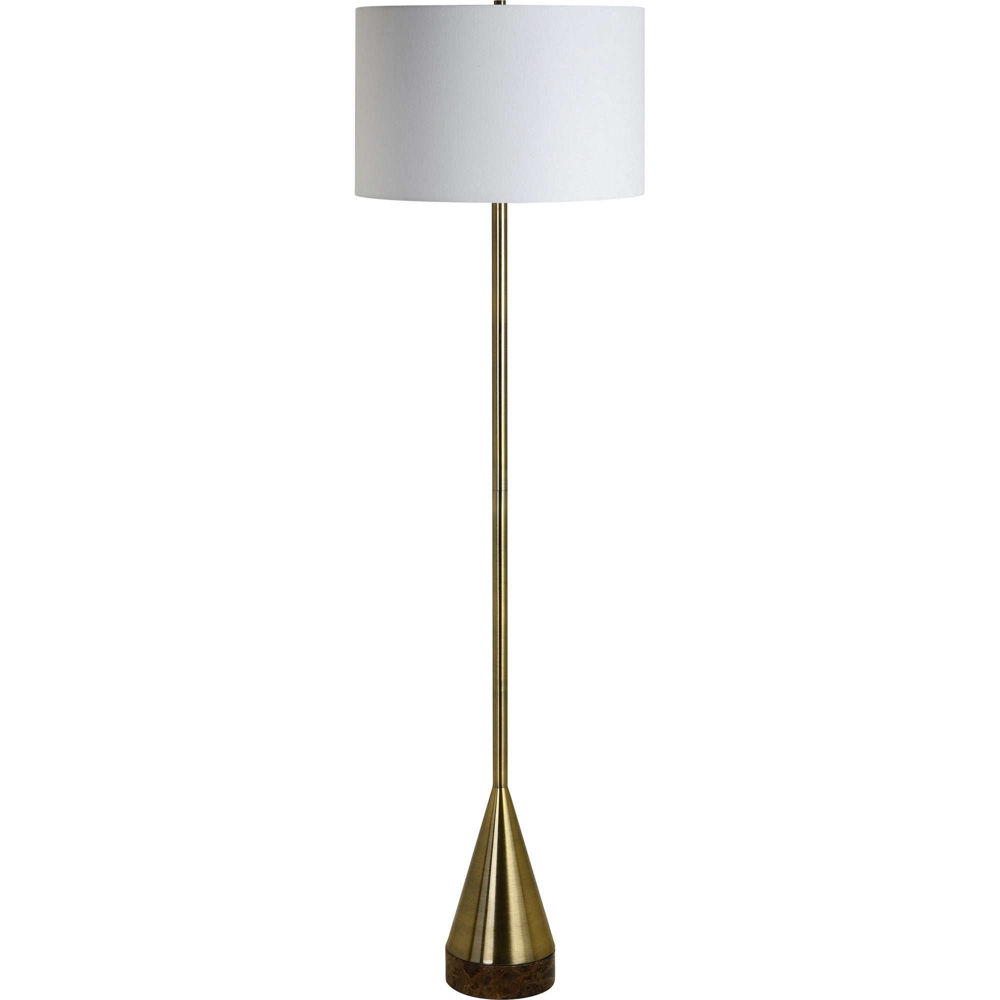 Lacy Brass & Marble Floor Lamp - Rug & Weave