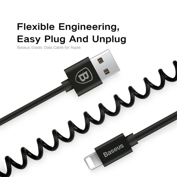 Retractable Spring 8pin Charging Cable