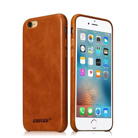 Anti-knock Genuine Leather Phone Cover | iPhone 6 6s plus