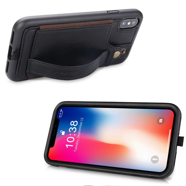 Leather Case With Card Slot Lanyard Design | iPhone X