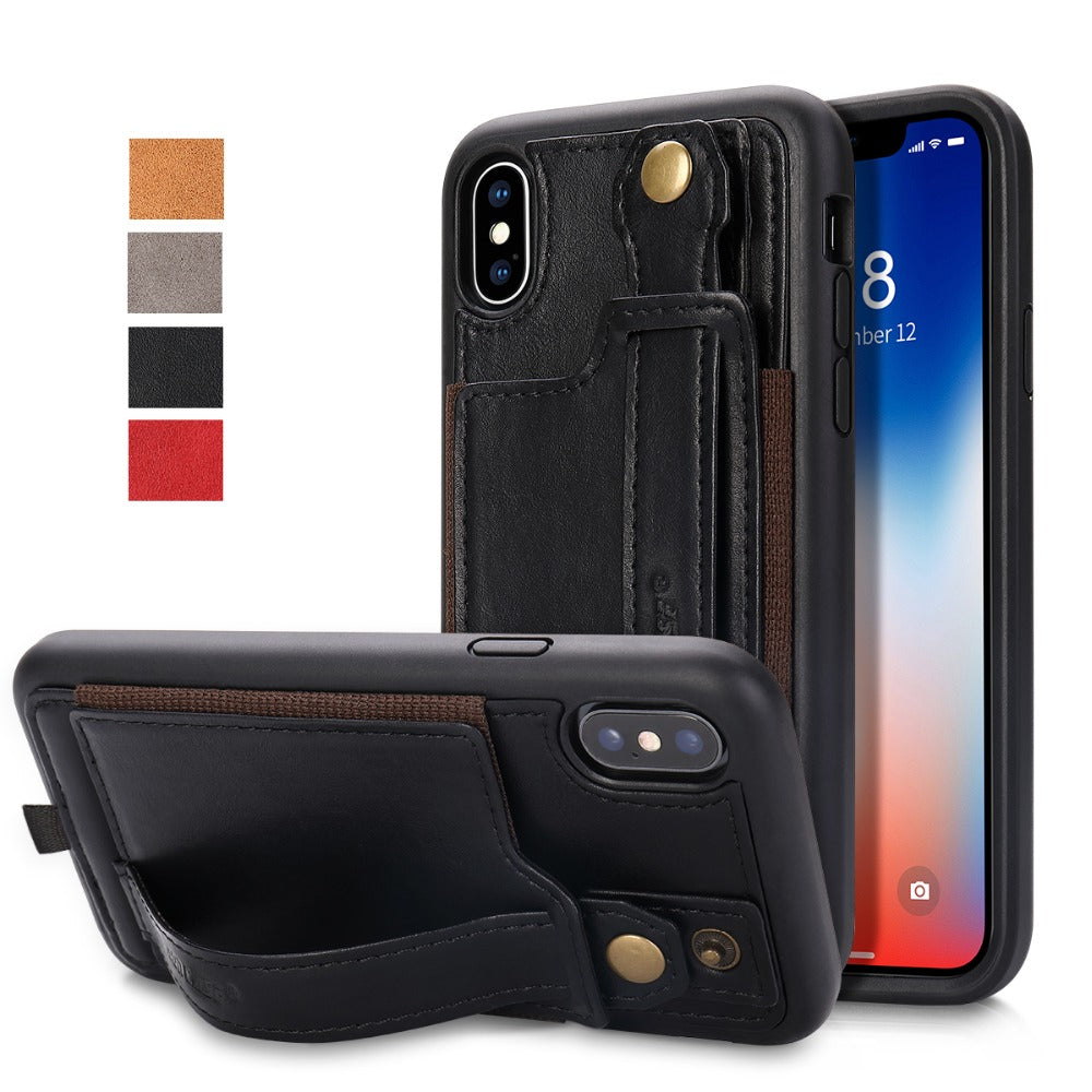 new concept fa292 9f358 Leather Case With Card Slot Lanyard Design | iPhone X