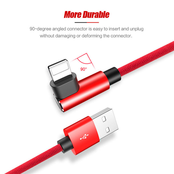 90 Degree USB Charger Cable