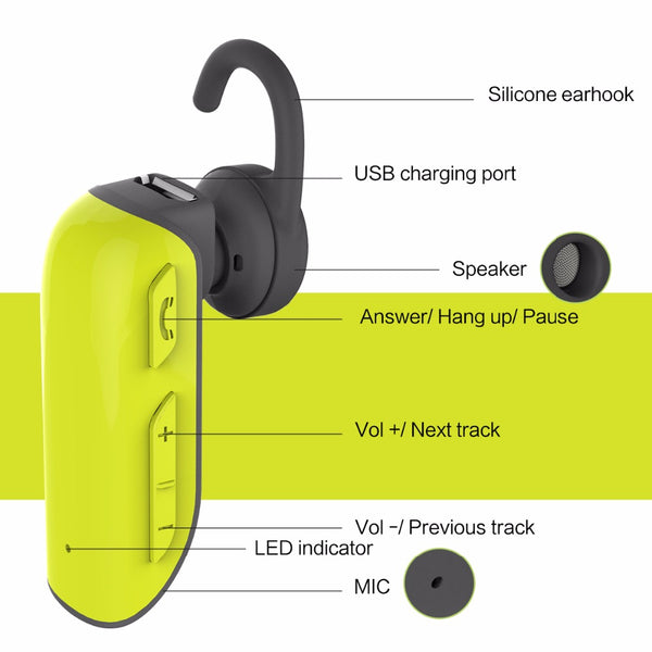 D20 Mono Bluetooth Earphone