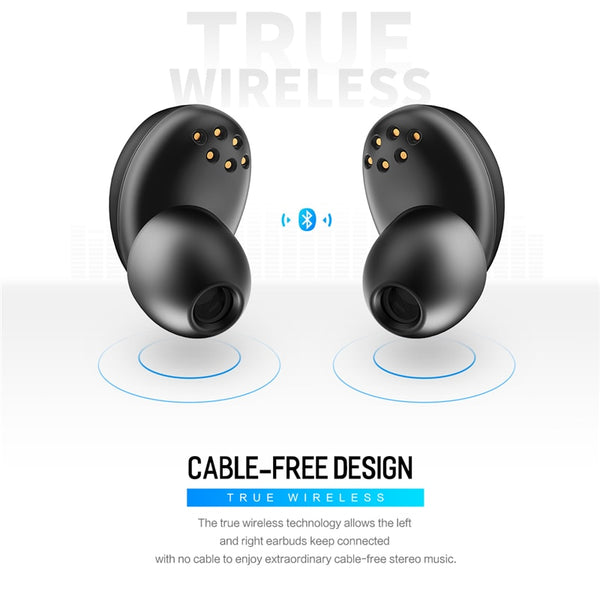 Wireless In-Ear Stereo Earbuds with Mic Charging Battery Box