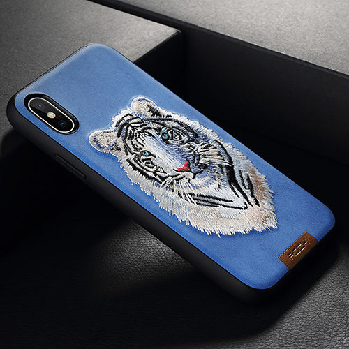 Full Protective Beast Embroidery Case | iPhone X