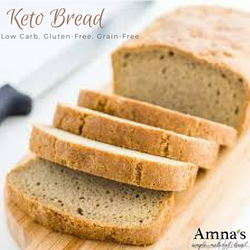 Almond Bread | Keto, Paleo, Diabetic Bread - No Preservatives - Amna's Naturals & Organics - Pakistan Lahore