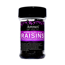 Black Raisins | Sun-dried (seedless) - Amna's Naturals & Organics - Pakistan Lahore
