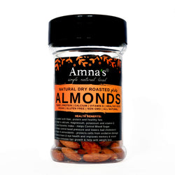 Almonds | Dry Roasted - Amna's Naturals & Organics - Pakistan Lahore