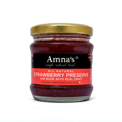 Strawberry Preserve (Jam) | All-Natural - Amna's Naturals & Organics - Pakistan Lahore