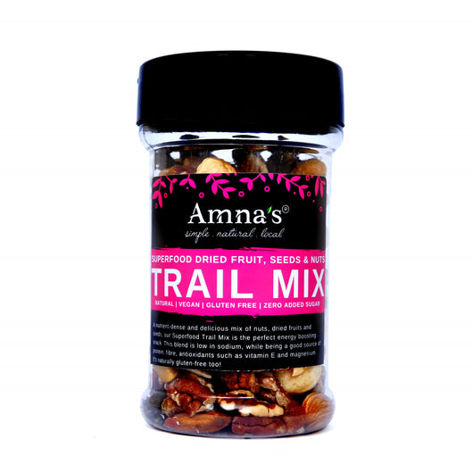 Superfood Trail Mix | Dried Fruits, Nuts & Seeds Mix - Amna's Naturals & Organics - Pakistan Lahore