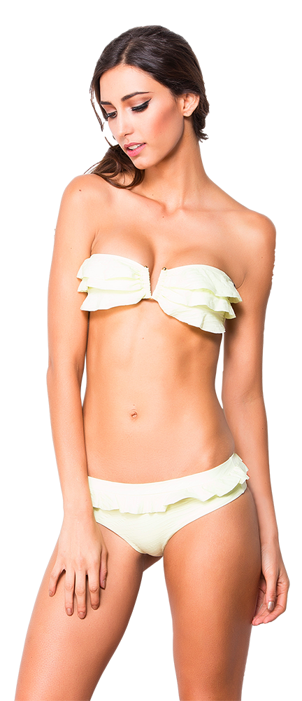 Women's Fashion Swimwear -- Dulzamara Beachwear Women's Bikini Set Vesuvius  -- Modern/Fitted -- Yellow