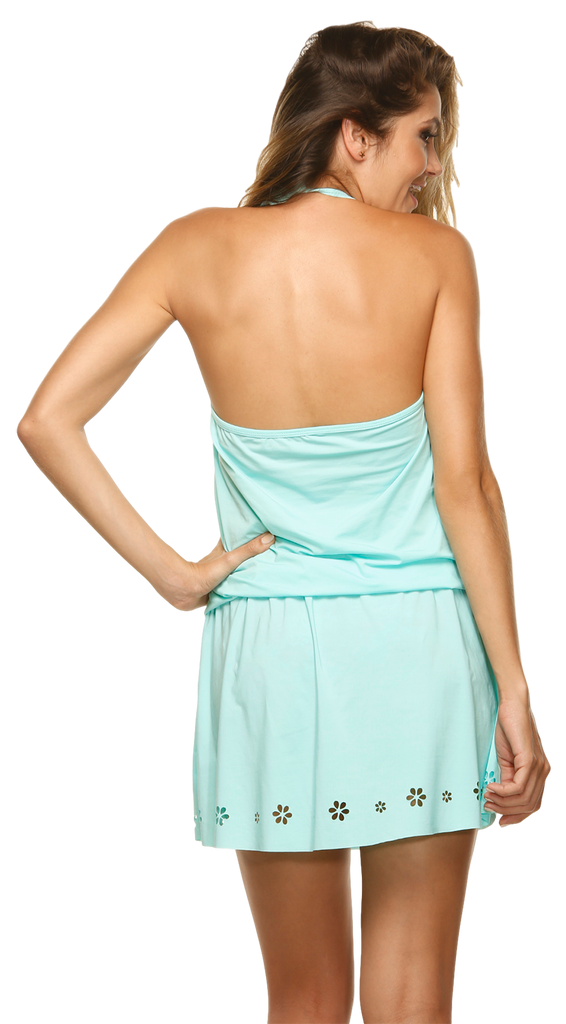 Women's Fashion Swimwear -- Dulzamara Beachwear Women's Cover Up Dress Dolomite  -- Modern/Fitted -- Turquoise