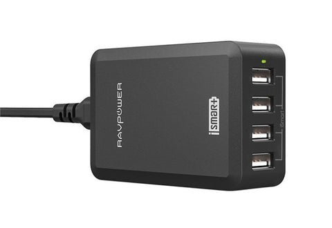 4-Port USB Power and Charging Station