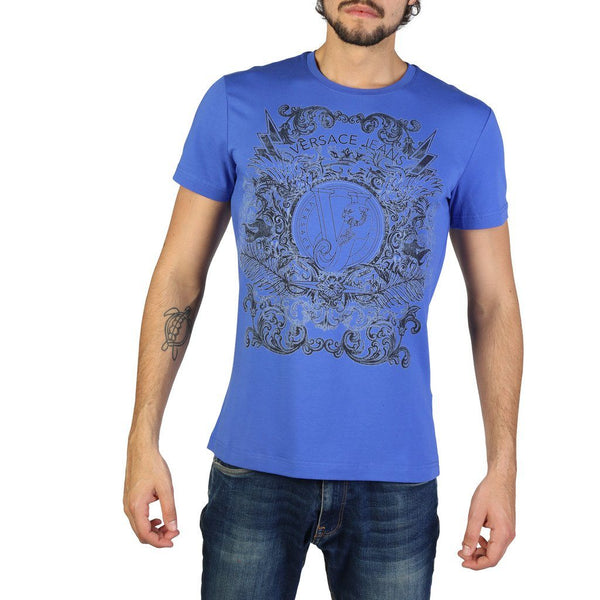 Versace Jeans - B3GRB71B36641 Clothing T-shirts Versace Jeans blue S