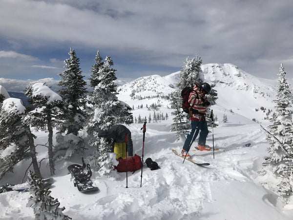 Ski touring at Penny - Red Mountain