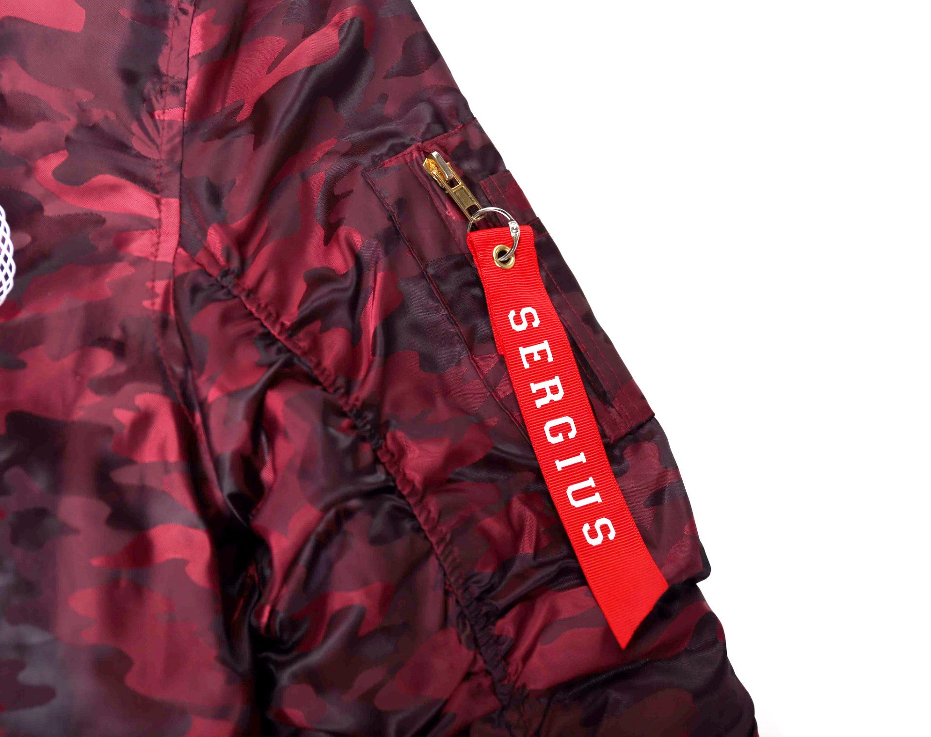 Red Wine Camo Bomber Jacket