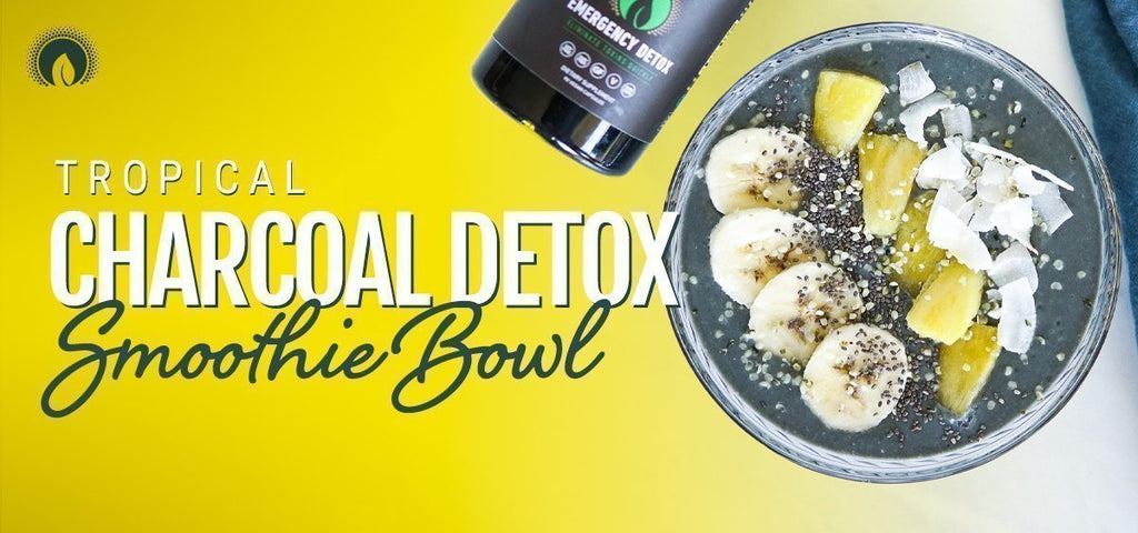 Tropical Charcoal Detox Smoothie Bowl