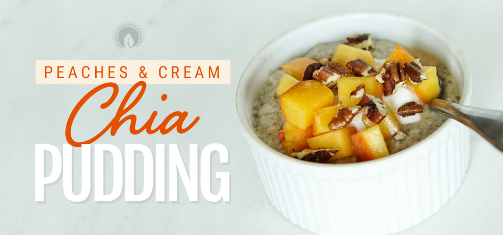 Peaches and Cream Chia Pudding
