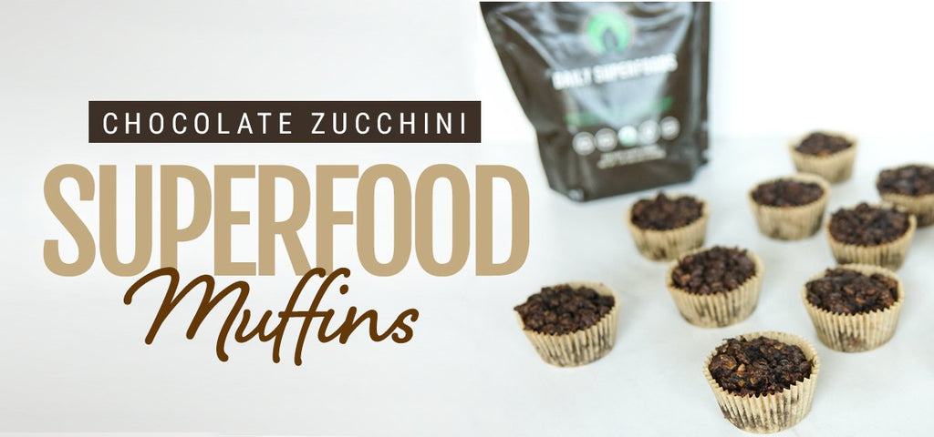 Chocolate Zucchini Superfood Muffins