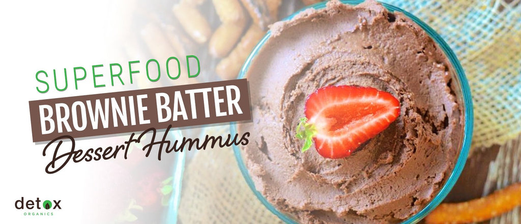 Superfood Brownie Batter Dessert Hummus