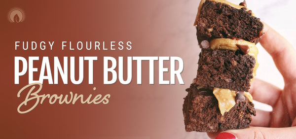 Fudgy Flourless Peanut Butter Brownies