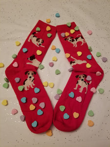 Jack Russell JRT Parsons Terrier Dog Ladies Novelty Socks