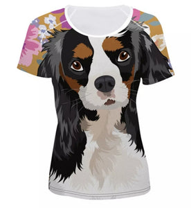Cavalier King Charles Dog Ladies Yoga Style T-shirt