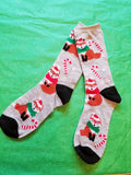 Red Fox Santa Claus Wildlife Christmas Holiday Socks