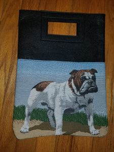 English Bulldog Purse Computer Hand Bag