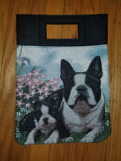 Boston Terrier Puppy and Dog Handbag Purse Computer Bag