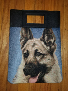 German Shepherd Dog K9 Purse Computer Hand Bag