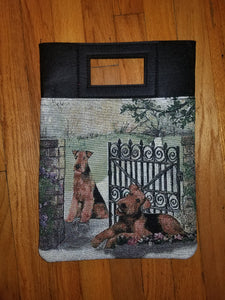 Airedale Lakeland Welsh Terrier Dog Purse Computer Bag