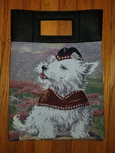 West Highland White Terrier Westie Dog Purse Computer Hand Bag