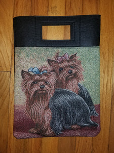 Yorkshire Yorkie Terrier Dog Handbag Purse Computer Bag