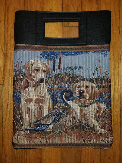 Yellow Labrador Retriever Puppy Dog Purse Computer Bag