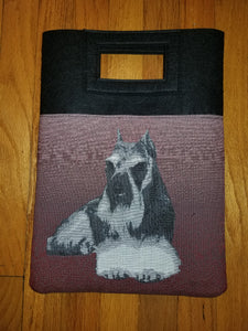 Miniature Standard Schnauzer Terrier Dog Handbag Purse Computer Bag