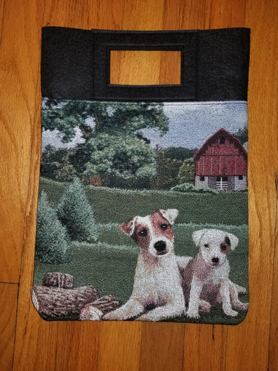 Jack Russell Parsons Terrier Dog Purse Computer Bag