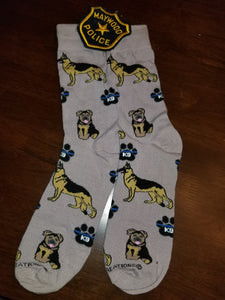 K9 Police Therapy German Shepherd Dog Socks