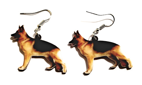 K9 German Shepherd Dog Lightweight Earrings